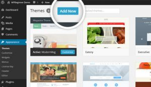 add new themes page