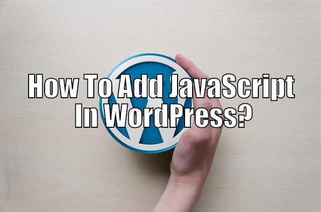 adding javascript to wordpress